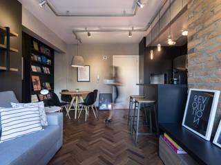 Salas de estar industriais por K+S arquitetos associados Industrial