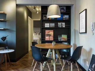 K+S arquitetos associados Ruang Makan Gaya Industrial