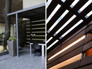 Pérgolas Casas eclécticas de Majo Barreña Diseño de Interiores Ecléctico