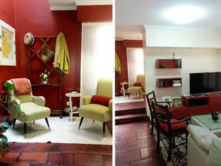CALOR DE HOGAR: Livings de estilo  por Majo Barreña Diseño de Interiores