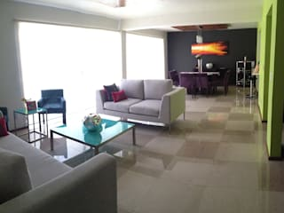 13. DEPARTAMENTO COYOACAN: Salas de estilo moderno por TARE arquitectos