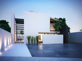 14. CASA AM: Casas de estilo moderno por TARE arquitectos