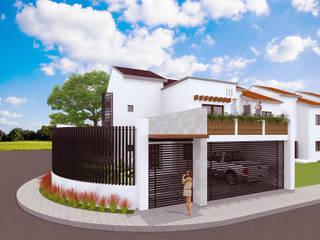 Casa C y L: Casas de estilo  por Proyecta Taller de Arquitectura