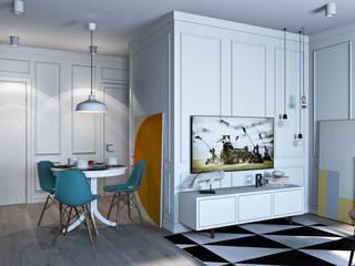 Квартира для молодой девушки: Гостиная в . Автор – OBJECT