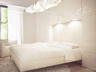 REZYDENCJA W ŚRODKU LASU: styl , w kategorii Sypialnia zaprojektowany przez Ejsmont - pracowania architektoniczna