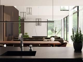 Cocinas de estilo moderno de Ejsmont - pracowania architektoniczna Moderno