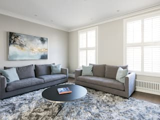Disraeli Road, Putney Ruang Keluarga Modern Oleh Grand Design London Ltd Modern