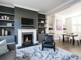 Disraeli Road, Putney Modern living room by Grand Design London Ltd Modern