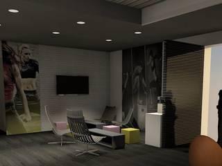 Gimnasios en casa de estilo  por VALERIE BARTHE AiC
