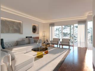 Opciones diseño interior salón en Madrid de DIKA estudio Moderno