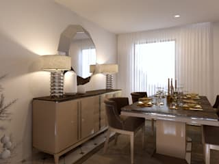 Moradia Paris: Salas de jantar modernas por Mdimension