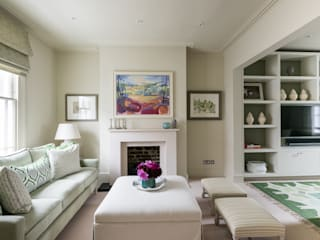 Hillgate Place, Notting Hill Ruang Keluarga Modern Oleh Grand Design London Ltd Modern