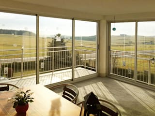 Balkonverglasung Schiebetüren Schmidinger Wintergärten, Fenster & Verglasungen Moderner Wintergarten Aluminium/Zink Grau
