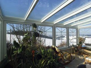 Wintergarten als Pflanzenoase Schmidinger Wintergärten, Fenster & Verglasungen Klassischer Wintergarten Glas Weiß