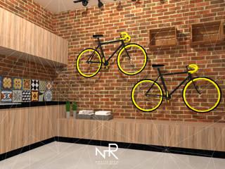 Edícula S | E: Garagens e edículas  por Natalia Rasia Arquitetura,Rústico