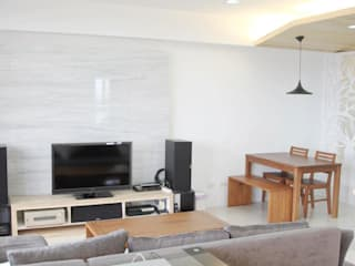Living room by 鹿敘空間設計, Scandinavian