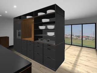 Küche SW 30 MDF schwarz Moderne Küchen von SW Retail+Interior Design Modern