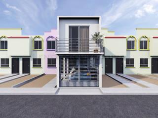Propuesta Fachada Principal: Casas de estilo  por Lentz Arquitectura Diseño y Construcción