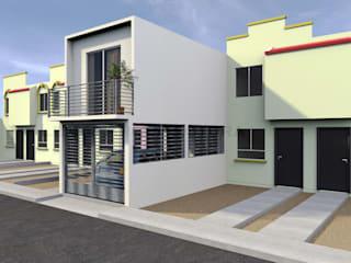 Propuesta Fachada Lateral 1: Casas de estilo  por Lentz Arquitectura Diseño y Construcción
