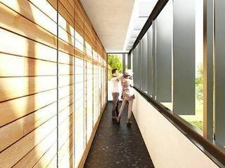 Pasillos, vestíbulos y escaleras de estilo moderno de AGUILERA SALAS ARQUITECTOS Moderno