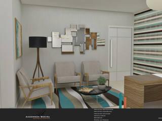 Clínica Odontológica Escritórios modernos por Levolu Interiores e Arquitetura Moderno