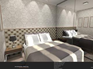 Studio com 30m²: Quartos  por Levolu Interiores e Arquitetura
