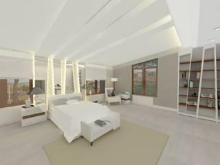 İç Mimar ve Çevre Tasarımcısı – Batı Villaları, Arı Villası:  tarz Yatak Odası