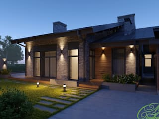 Частный дом в Зеленограде Дома в стиле минимализм от Компания архитекторов Латышевых 'Мечты сбываются' Минимализм
