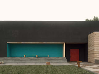 Grynevich Architects Minimalist house Multicolored