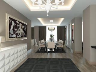 Modern Corridor, Hallway and Staircase by Erden Ekin Design Modern