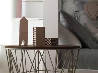 Habitación Infantil Clouds Grey- Pink: Dormitorios infantiles de estilo  de TocToc