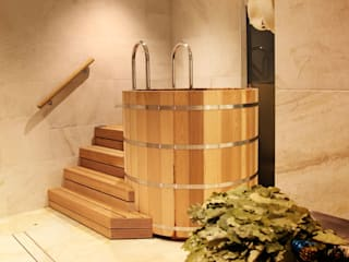 Spa Club - Private Banya Taiga:  Steam Bath by Natalia Interior Design