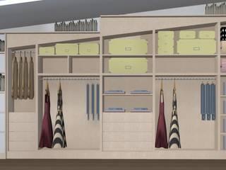 Pronti per il cambio di stagione? Ordine e funzionalità con un armadio a muro dalle linee pulite, sobriamente elegante. Camera da letto minimalista di T.A. arredo_arredamento su misura Minimalista