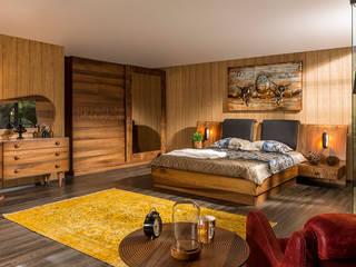 YILDIZ MOBİLYA – Key Ahşap Yatak Odası: modern tarz Yatak Odası
