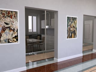 Simulazione dalla sala:  in stile  di Manrico Mazzoli Architetto