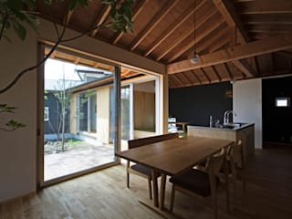 Comedores modernos de 岡本和樹建築設計事務所 Moderno