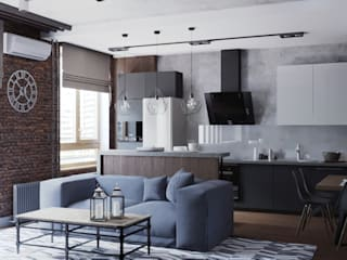 Cucina in stile industriale di EEDS дизайн студия Евгении Ермолаевой Industrial
