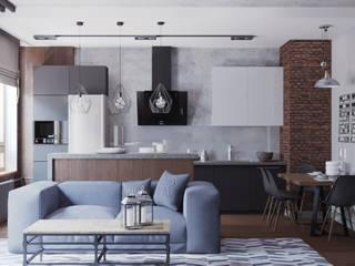 Industrial style kitchen by EEDS дизайн студия Евгении Ермолаевой Industrial