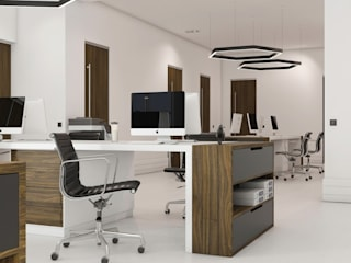 GN İÇ MİMARLIK OFİSİ Office spaces & stores Wood Wood effect