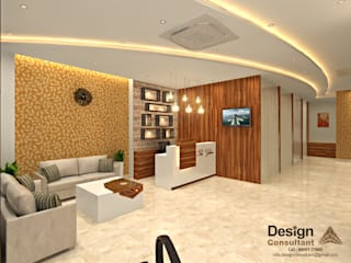 The Glam Salon Reception Design:  Commercial Spaces by Design Consultant