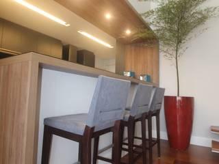 Ana Carolina Cardoso Arquitetura e Design Dapur Modern Kayu Blue
