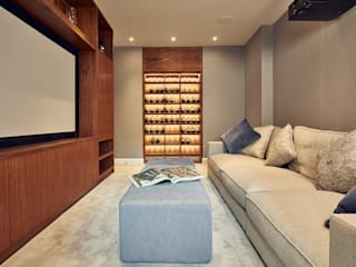 Cinema Room with Bespoke Joinery:  Media room by Adventure In Architecture