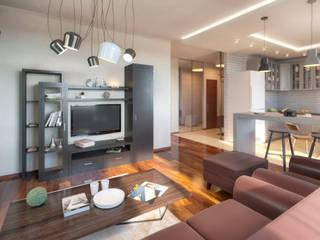Modern Living Room by Anastasia Yakovleva design studio Modern