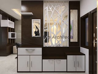 Interior Project for 3BHK Flat Asian style living room by Inventivearchitects Asian