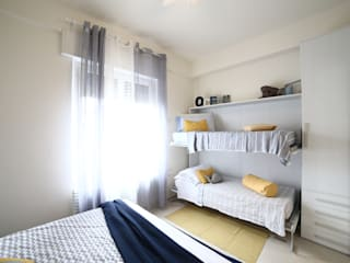 غرفة نوم تنفيذ Civicocinquestudio