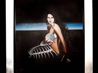 Arte Surrealista y Realismo Mágico:  de estilo  por Mariana Tapia 'La Sirena de México' artista plástica