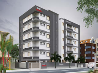 Mourya Somanath Asian style houses by Mourya Constructions Asian
