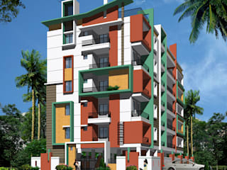 Mourya Residency:  Houses by Mourya Constructions,
