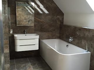 Plot 3, The Views, Gallaton, Aberdeenshire Roundhouse Architecture Ltd Modern bathroom