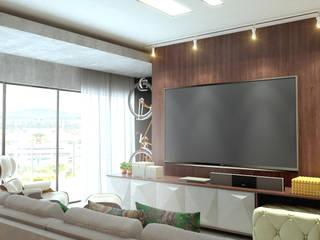 Protótipo de apartamento: Salas de estar  por D'Sapê - Arquitetura de interiores